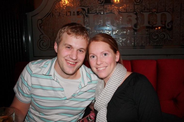 L and I at a bar in VA