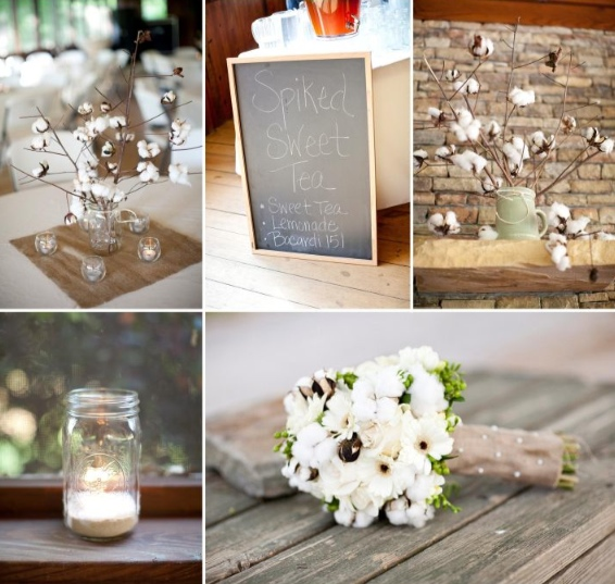 Any wedding with burlap mason jars and chalkboards is pretty much the