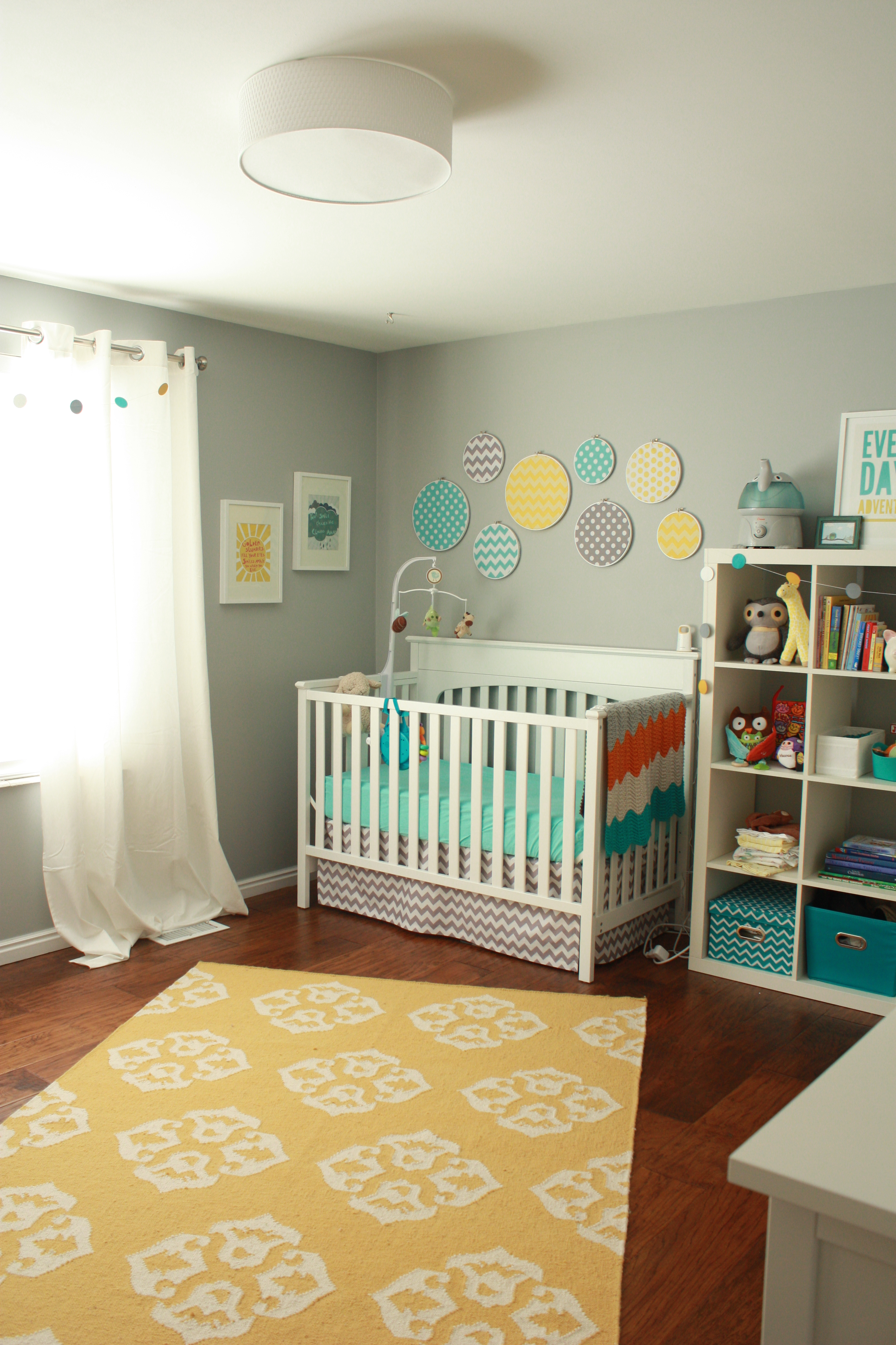 Teal gray nursery : Teal and gray nursery
