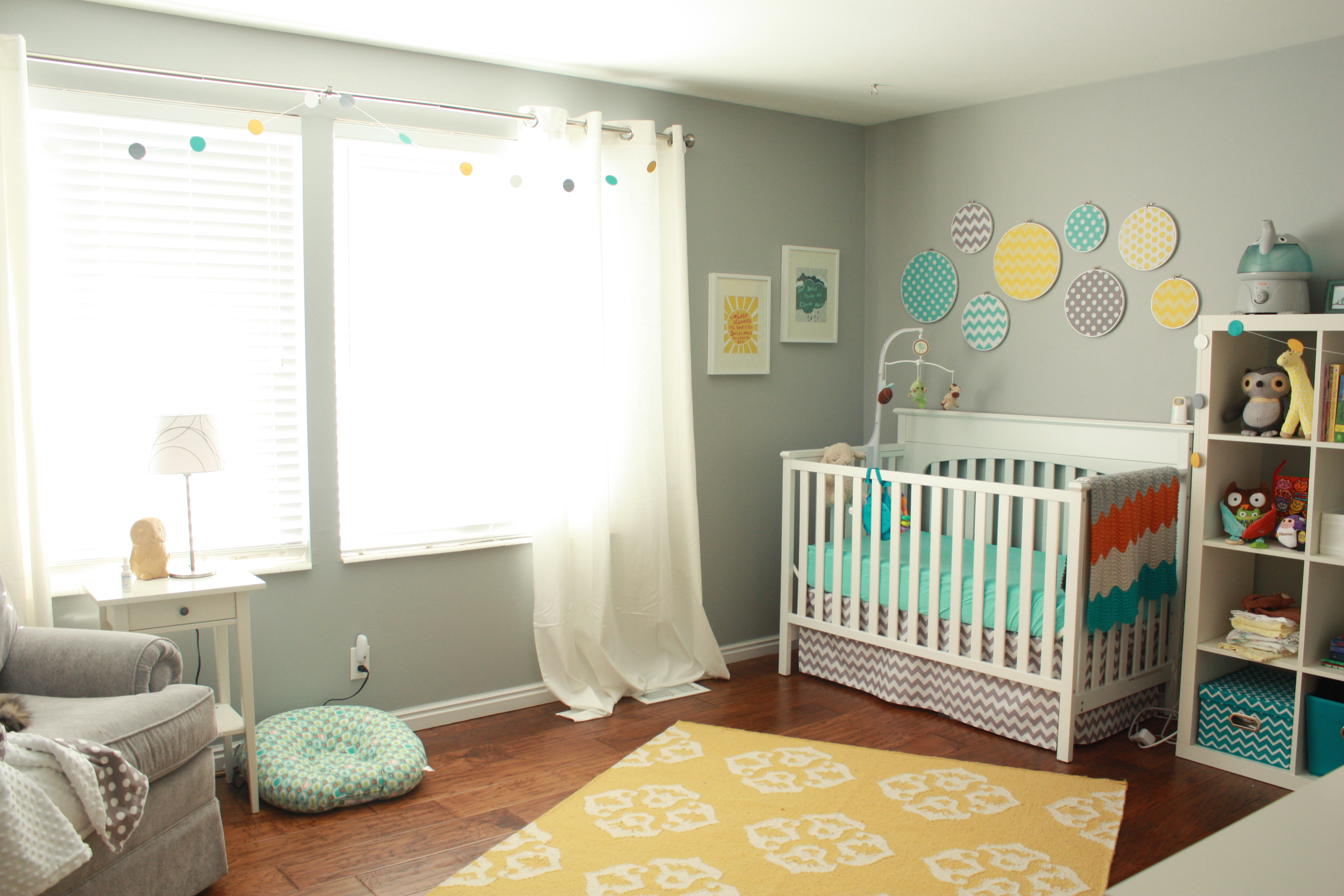 Grey and yellow and teal bedroom - Beautiful Nursery U Run Knit Hitched With Teal Grey And Yellow Bedroom
